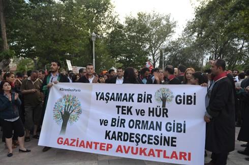 Avukatlardan protestoculara destek  7