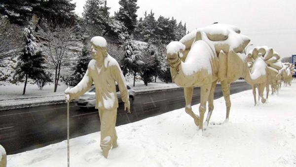 Gaziantep'ten kar manzaraları 12