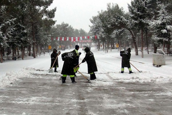 Gaziantep'ten kar manzaraları 13