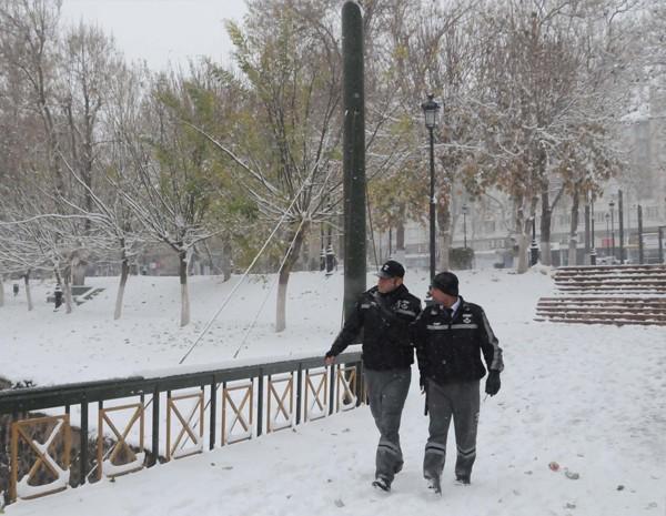 Gaziantep'ten kar manzaraları 6