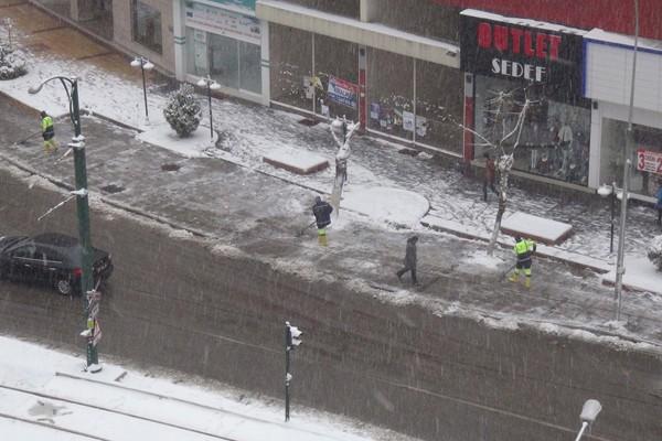 Gaziantep'ten kar manzaraları 7