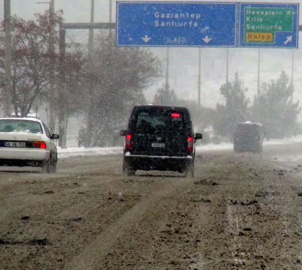 Gaziantep'ten kar manzaraları 8