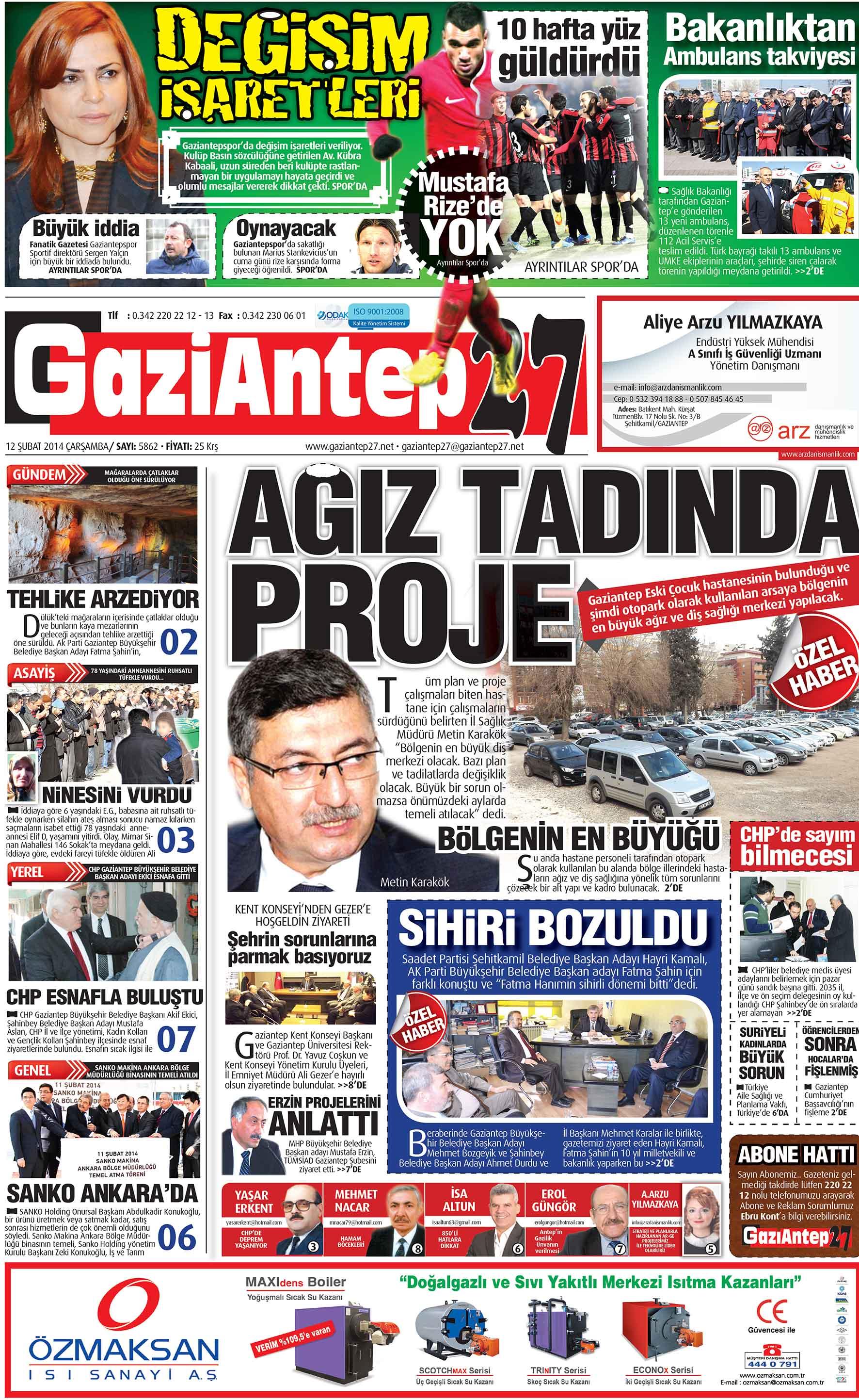 12 Şubat 2014 Sayfalar 1