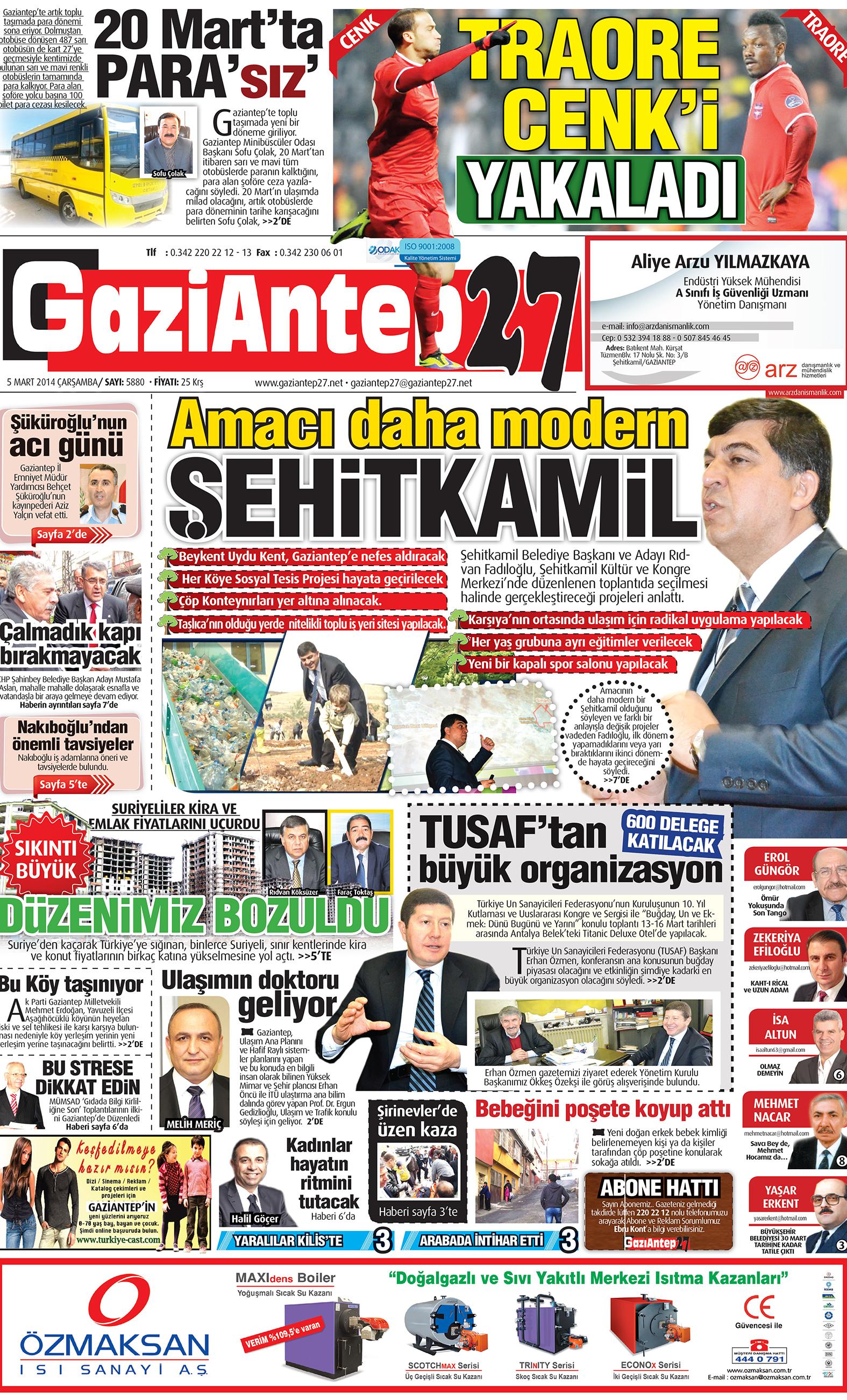 5 Mart 2014 sayfalar 1