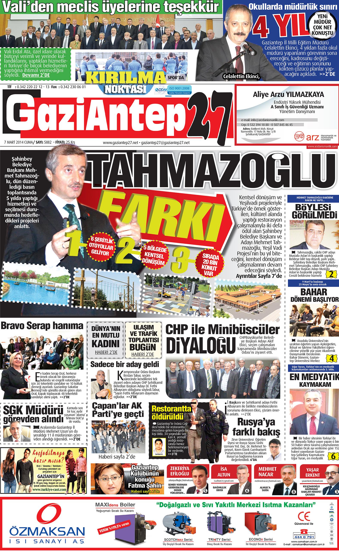 7 Mart 2014 Sayfalar 1