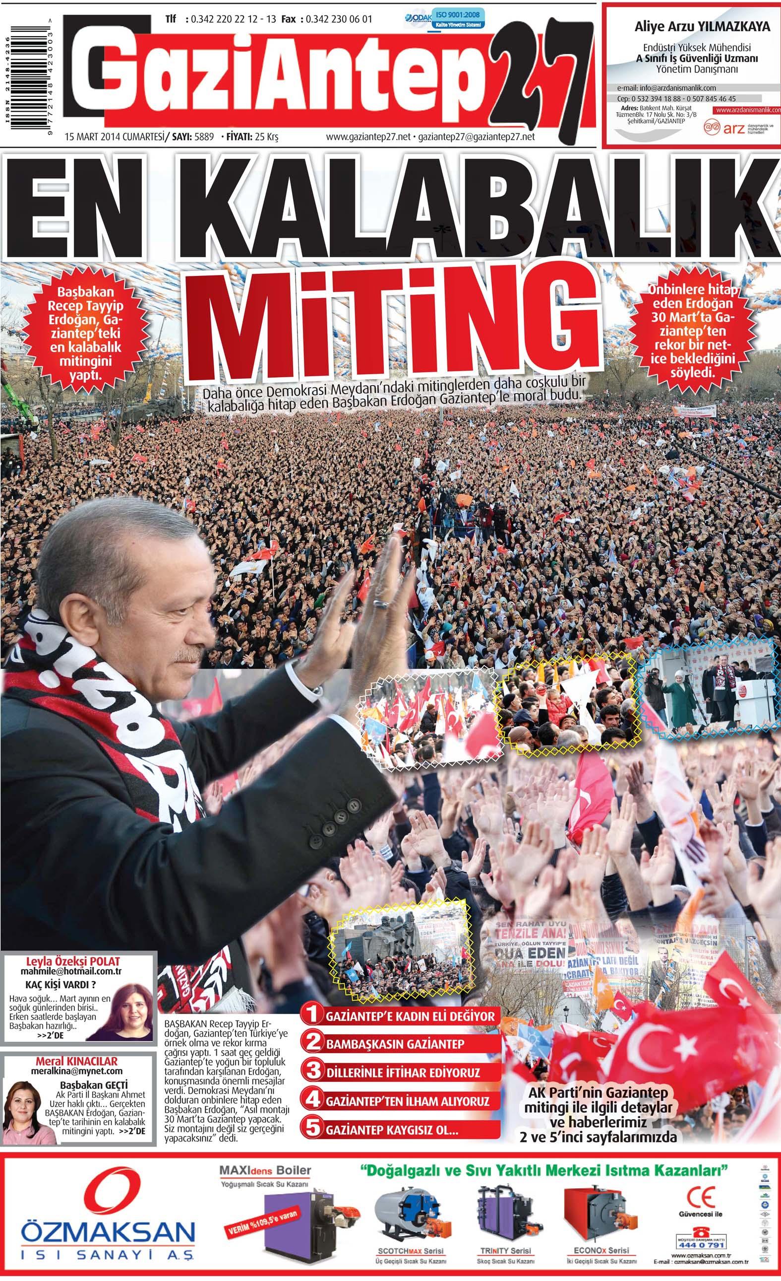 15 Ocak 2014 Sayfalar 1