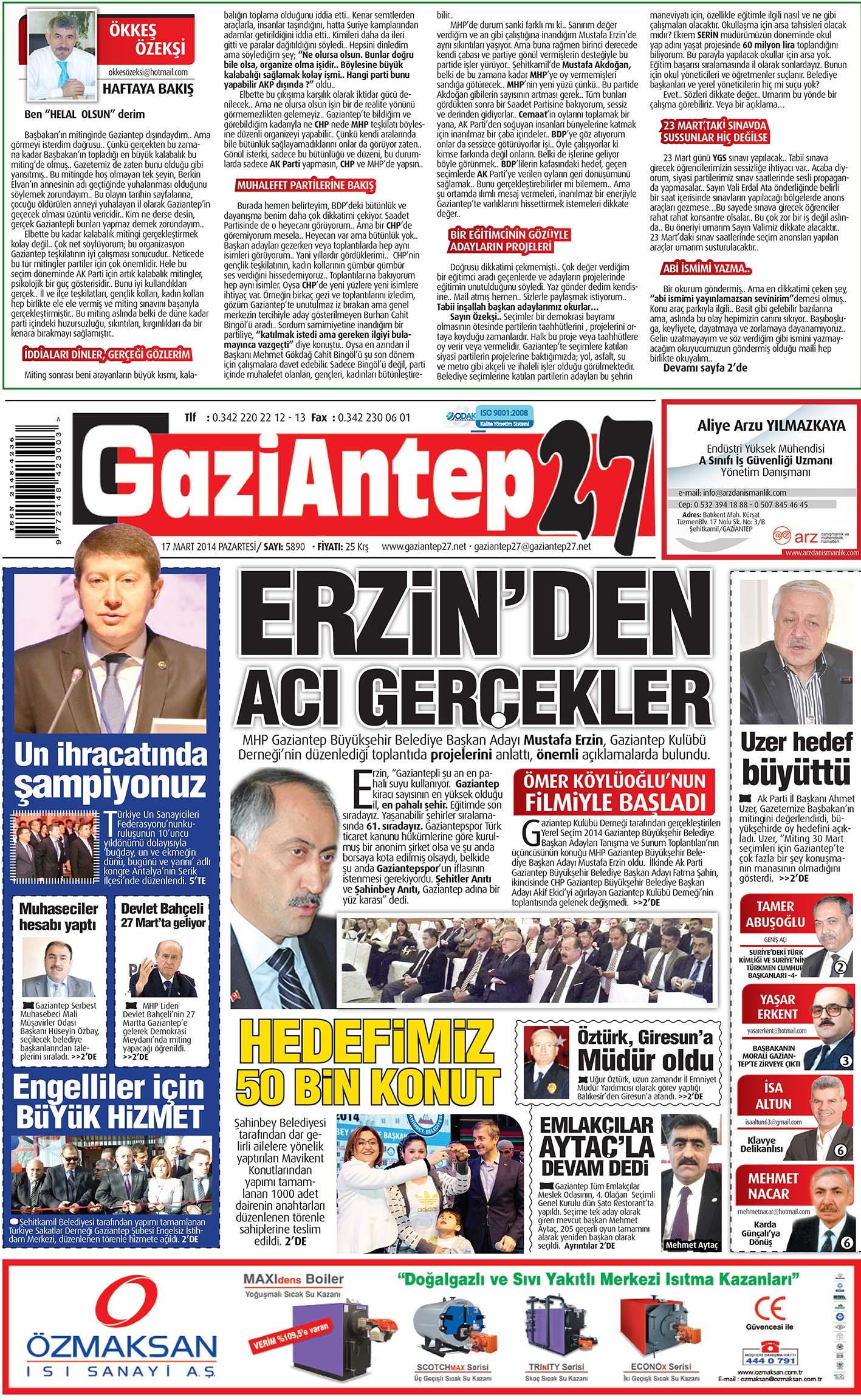 17 Mart 2014 sayfalar 1