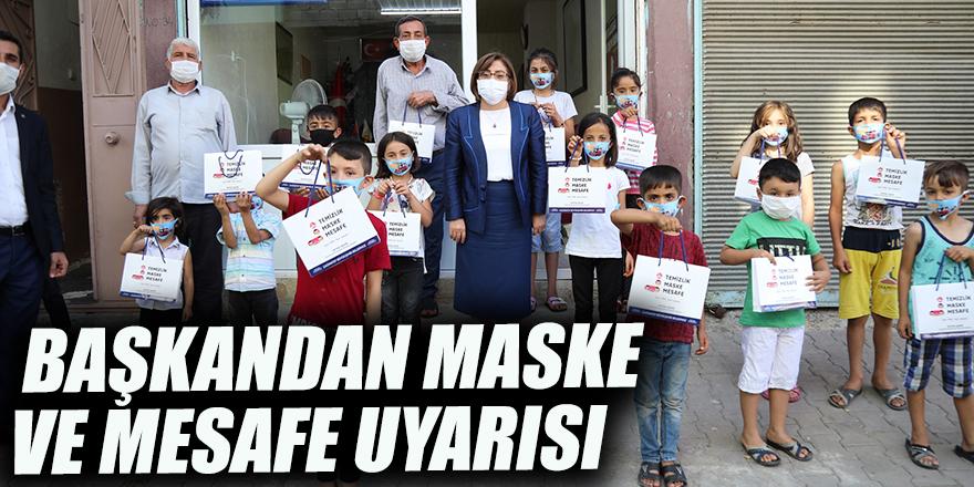 Başkandan maske ve mesafe uyarısı