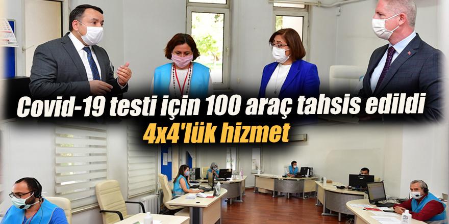 Covid-19 testi için 100 araç tahsis edildi