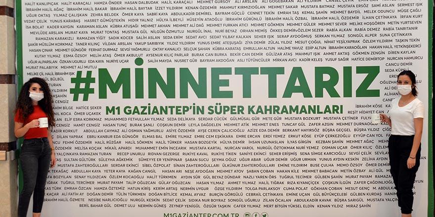 M1 Gaziantep'ten AVM çalışanlarına jest