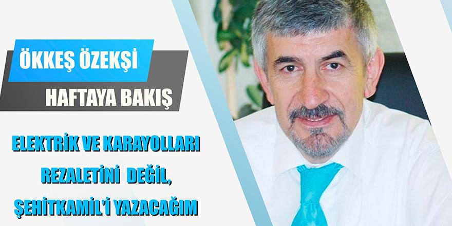 ELEKTRİK VE KARAYOLLARI REZALETİNİ DEĞİL, ŞEHİTKAMİL'İ YAZACAĞIM