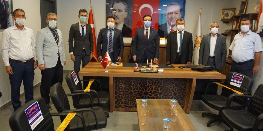 Osmanlı Ülkü Ocakları Şehitkâmil ilçe başkanı Akın Çalışıcı'dan Ak Parti Şehitkamil'e Ziyaret
