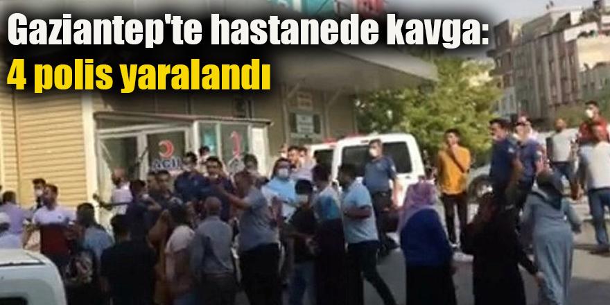 Gaziantep'te hastanede kavga: 4 polis yaralandı