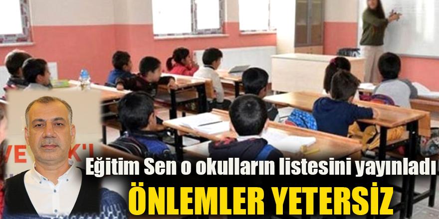 Eğitim Sen o okulların listesini yayınladı