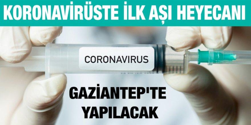 Gaziantep'te ilk aşı