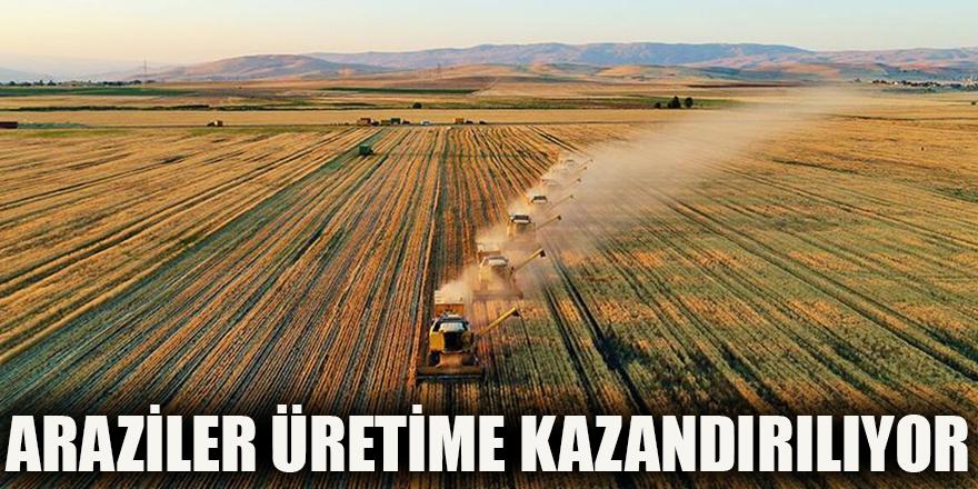 Araziler üretime kazandırılıyor