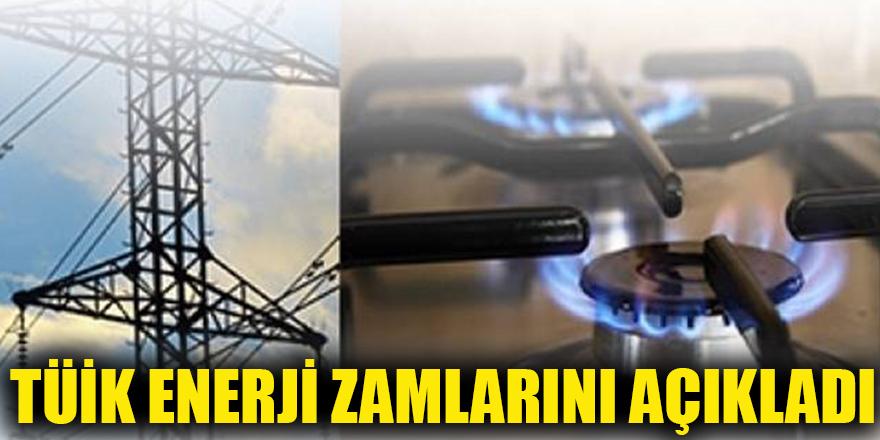 TÜİK enerji zamlarını açıkladı