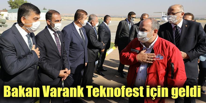 Bakan Varank Teknofest için geldi