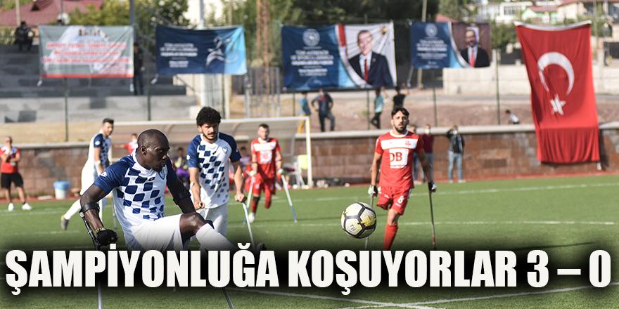 Şampiyonluğa koşuyorlar 3 – 0