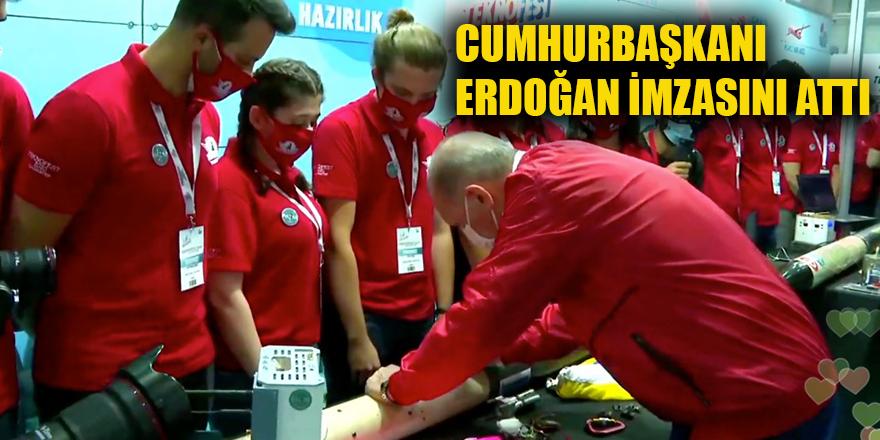 Cumhurbaşkanı Erdoğan imzasını attı