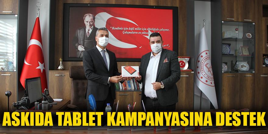 Askıda tablet kampanyasına destek