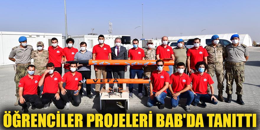Öğrenciler projeleri Bab'da tanıttı