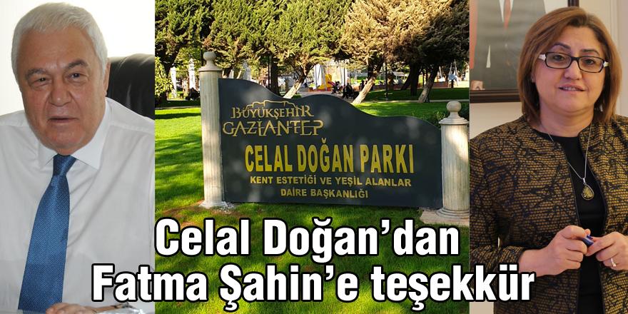 Celal Doğan'dan   Fatma Şahin'e teşekkür