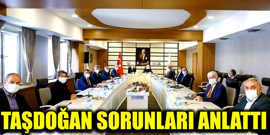 Taşdoğan sorunları anlattı