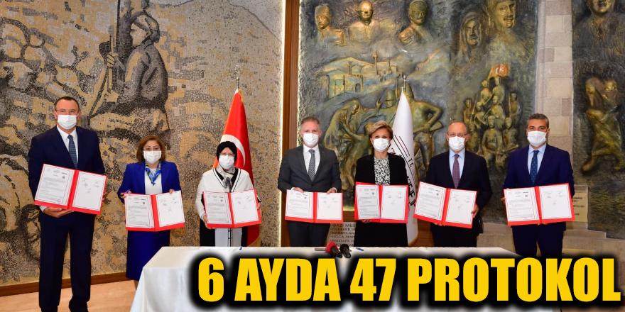 6 ayda 47 protokol