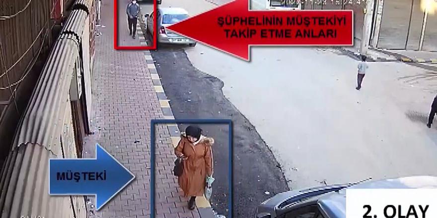 Önce kameraya, sonra polise yakalandı