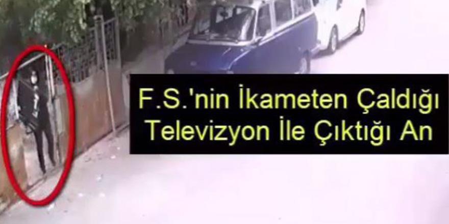 Televizyonu alıp kaçan hırsız yakalandı