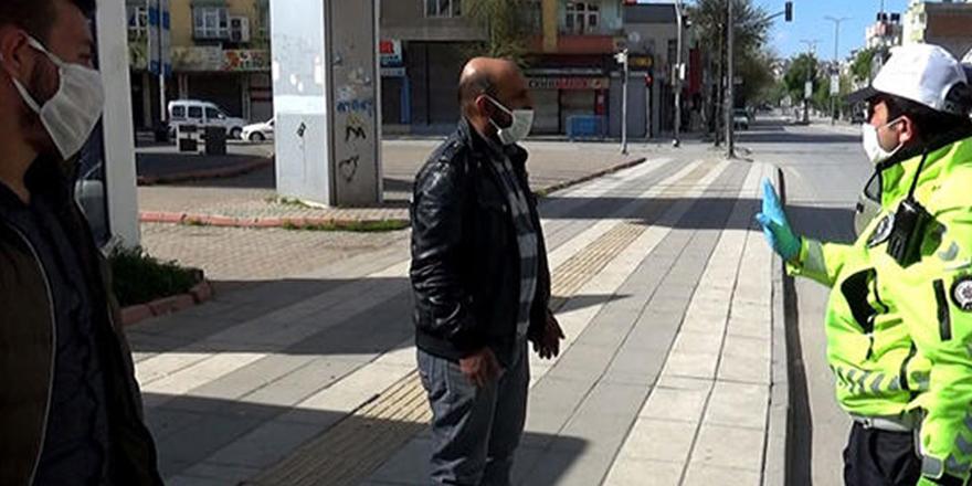 Sokağa  çıkma yasağını ihlal ettiler