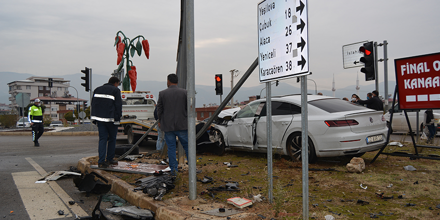 İslahiye'de korkutan kaza