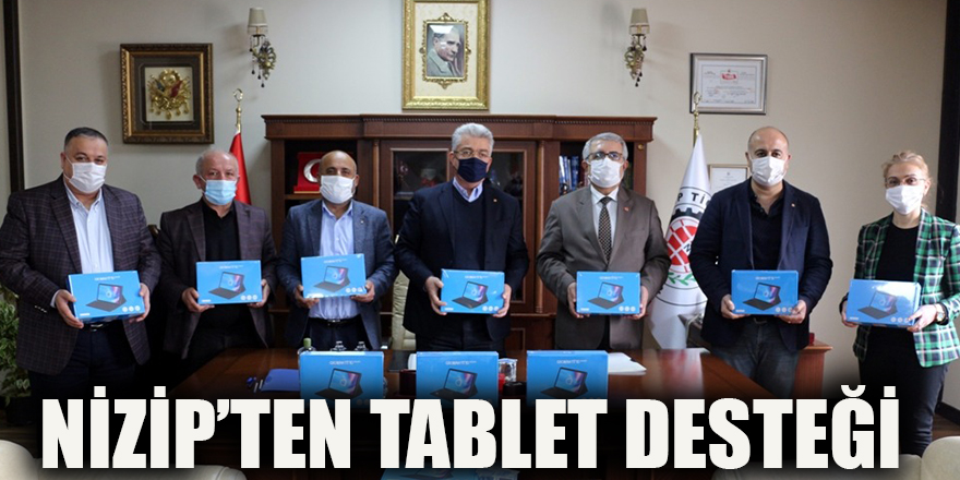 Nizip'ten tablet desteği
