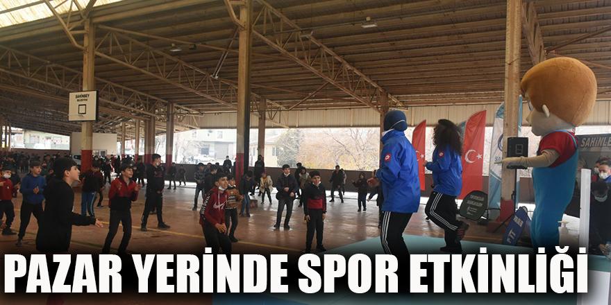 Pazar yerinde spor etkinliği