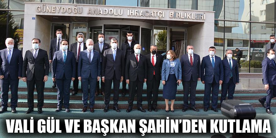 Vali Gül ve Başkan Şahin'den kutlama