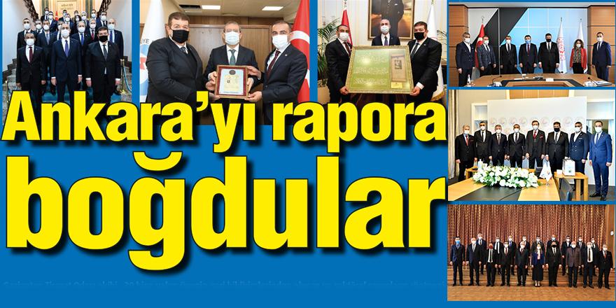 Ankara'yı rapora boğdular