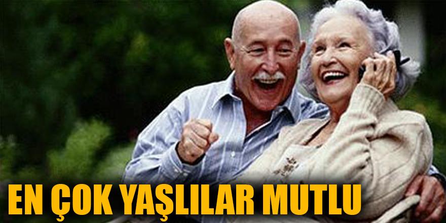 En çok yaşlılar mutlu