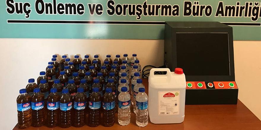 31 litre kaçak alkol ele geçirildi