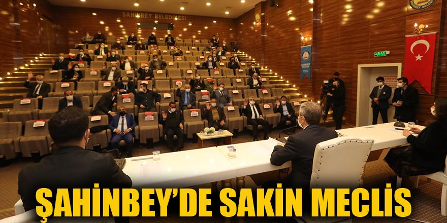 Şahinbey'de sakin meclis