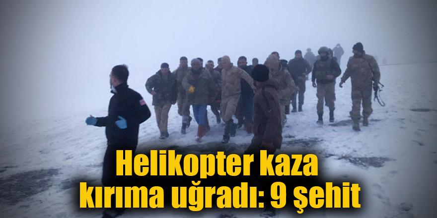 Helikopter kaza kırıma uğradı: 10 şehit
