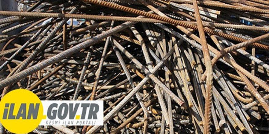 100 ton hurda demir ihale ile satılacak