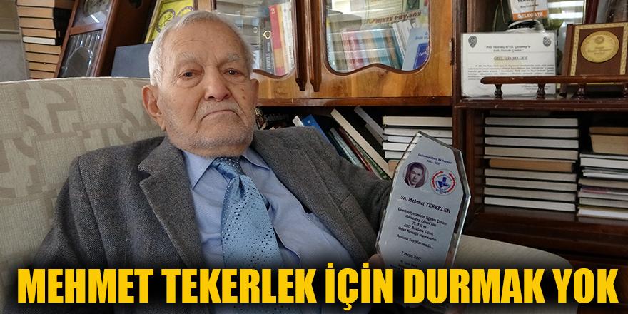 Mehmet Tekerlek için durmak yok