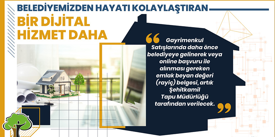 Şehitkamil'den dijital hizmet
