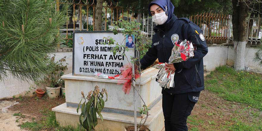 İslahiye polisinden şehitlik ziyareti