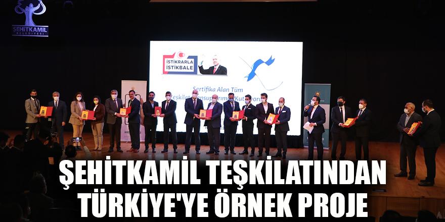 Şehitkamil teşkilatından Türkiye'ye örnek proje