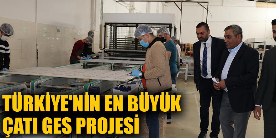 Türkiye'nin en büyük çatı GES projesi