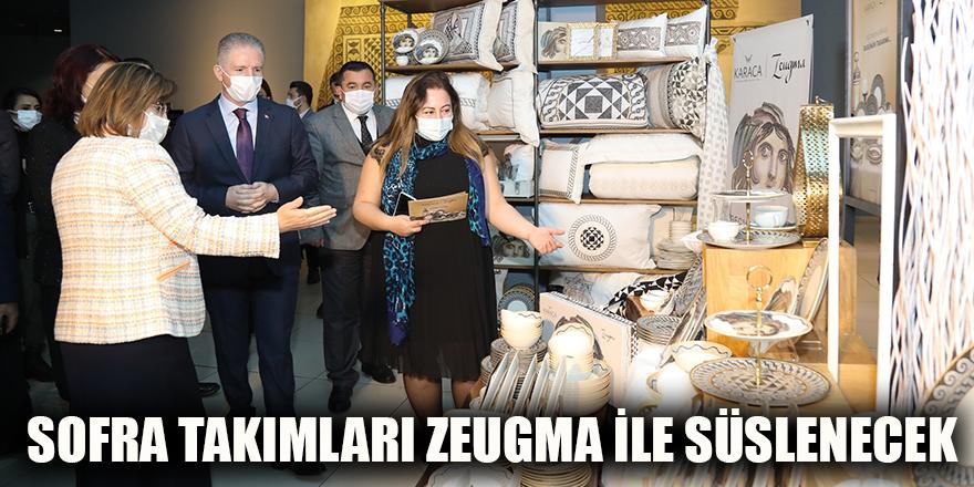 Sofra takımları Zeugma ile süslenecek