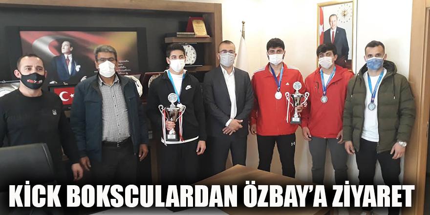 Kick Boksculardan Özbay'a ziyaret