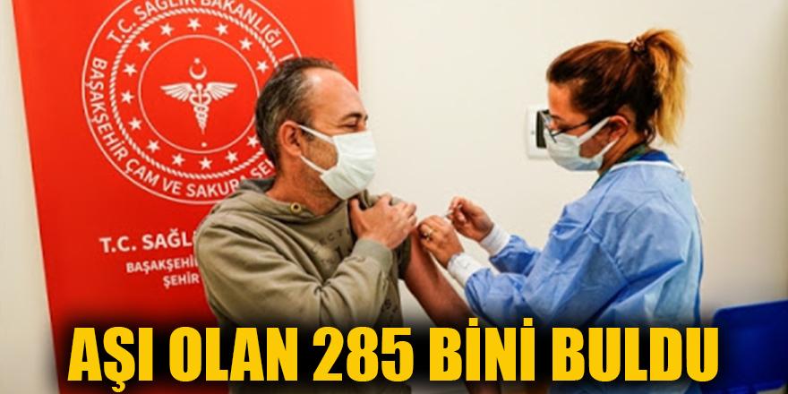 Aşı olan 285 bini buldu